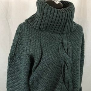 Talbots Sage Green Cowl Neck Sweater Small Petite